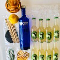 Kit Skyy Vodka and lemon