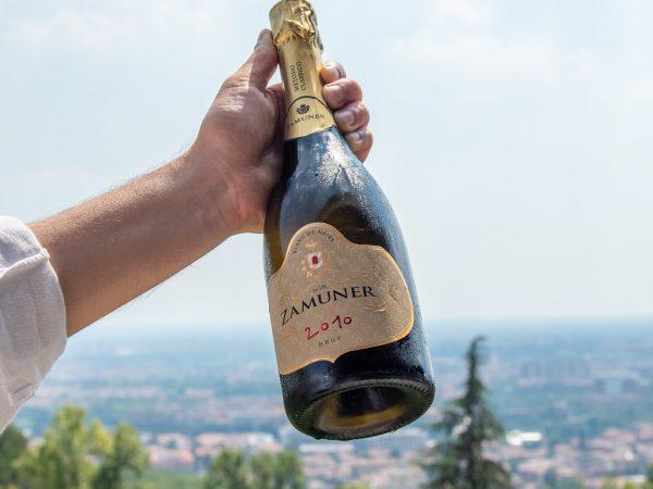 Bottle of Champagne San Mattia